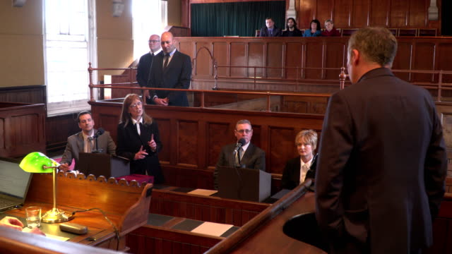 4K: Court case - Barrister / Lawyer questions Witness video