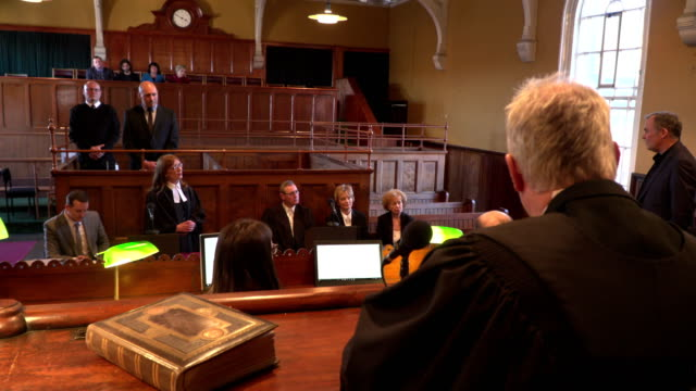 4K: Court hearing - Court case with Judge & Lawyer / Barrister video