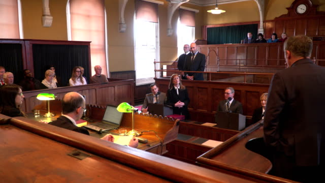 4K: Courthouse - Barrister / Lawyer questions Witness video
