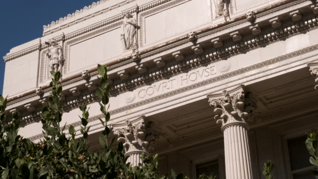 Courthouse Building Courthouse Building Facade architectural column stock videos & royalty-free footage