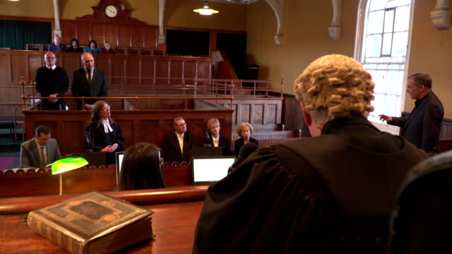 4K: Courthouse - Court case with Judge & Lawyer / Barrister video