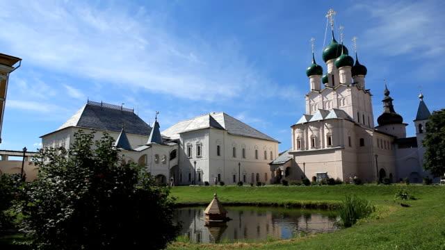 Courtyard of the Rostov Kremlin. Church of the Virgin Hodegetria / Russia video