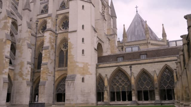 Courtyard of Westminster Abbey, London, UA video