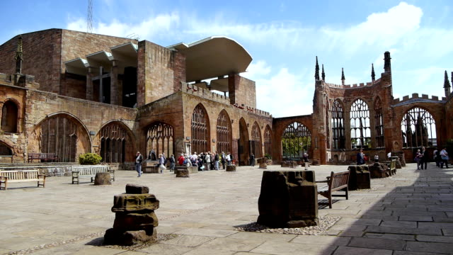 coventry cathedral - cathedrals stock videos & royalty-free footage