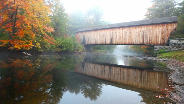 Covered Bridge in rural New Hampshire video