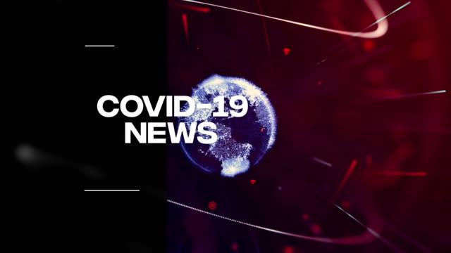 Covid-19, coronavirus breaking news background