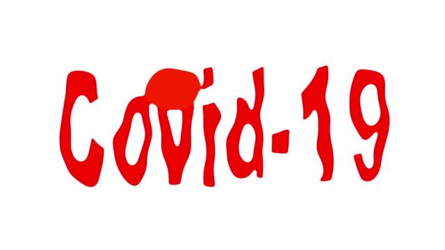 Covid-19 red liquid drip
