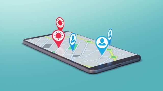 covid-19 tracking app - smartphone mit corona app stock-videos und b-roll-filmmaterial