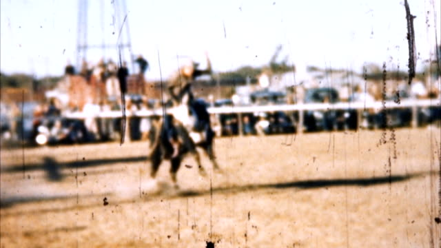 Cowboy Bull Ride (Archival 1950s)