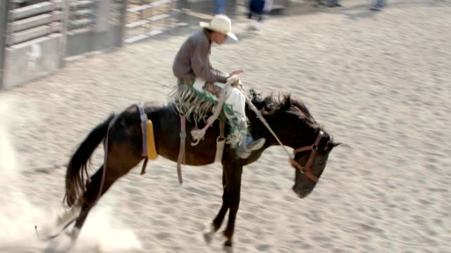 Cowboy auf bucking Bronco Pferd. – Video