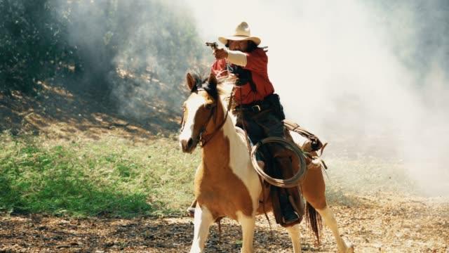 cowboys on horseback - cowboy video stock e b–roll