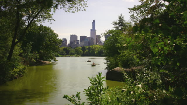cozy lake day light central park 4k time lapse from new york city video