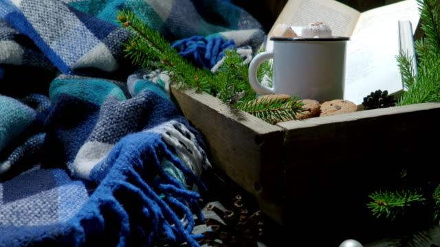Cozy reading in winter