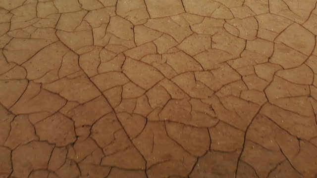 risse und getrocknete erde - aerial overview soil stock-videos und b-roll-filmmaterial