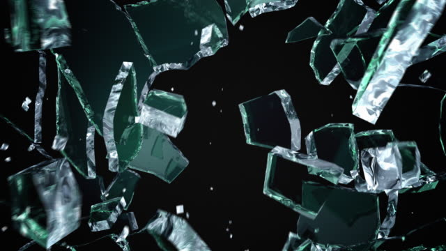 Cracked and Shattered black glass video