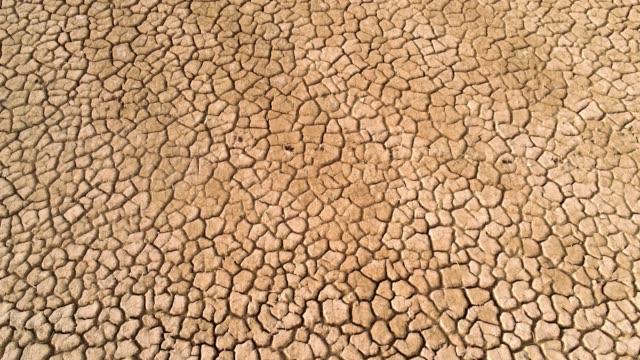 rissiger wüstenboden nach längerer trockenheit - aerial view soil germany stock-videos und b-roll-filmmaterial