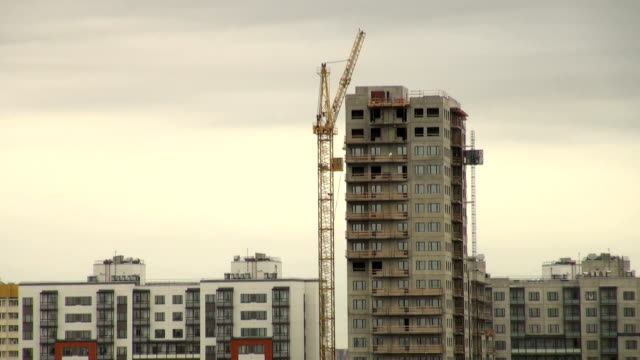 crane at a construction site video