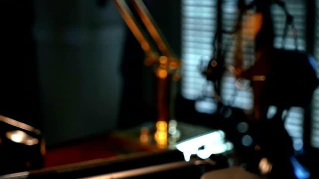 crane down to film noir typewriter video