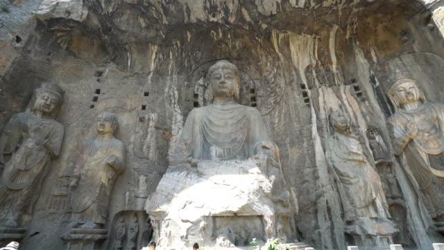 Crane shot: Longmen Grottoes Luayang Henan China video