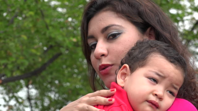 Cranky Baby With Mother video