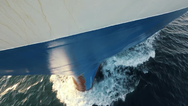 Crashing Waves Bow of a Cargo Vessel