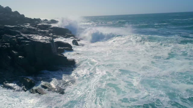 Crashing Waves on a Rocky and Dangerous Coast