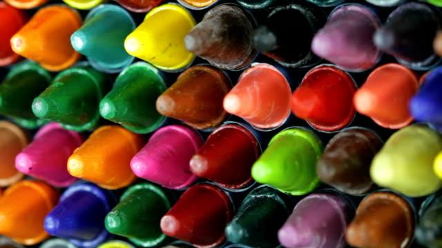 pastelli - matita colorata video stock e b–roll
