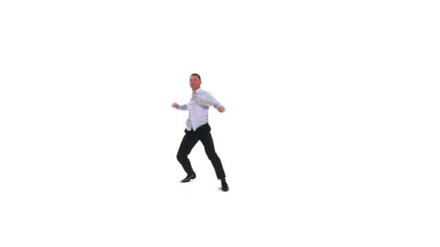 HD :クレイジーなビジネスマンダンス ビデオ