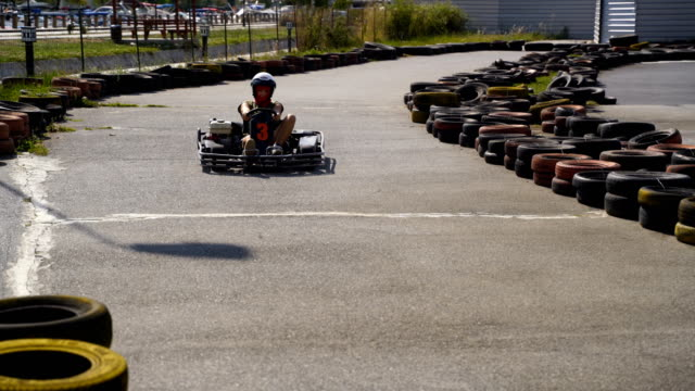 Crazy drive and adrenaline attack-go carting drive