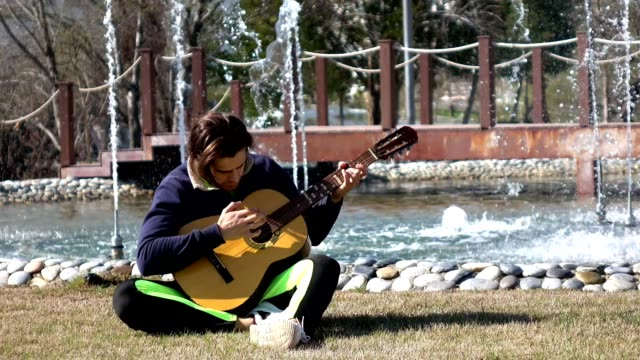 Creating music on a park video