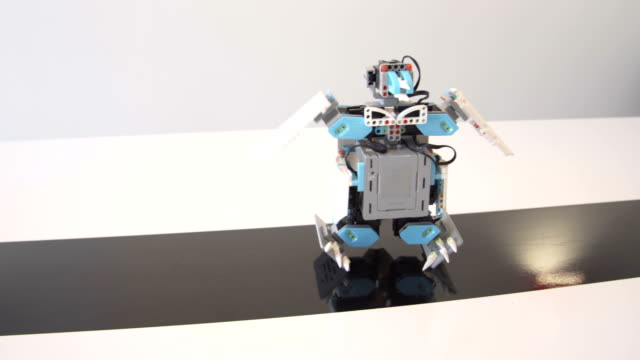 Creation and programming for dancing robot penguin video