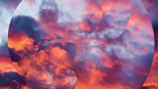 Creative 4K parallax video of the sky at sunset with moving clouds against the background of the Yin Yang symbol spreading out to the sides. Meditation concept, open mind. Creative 4K parallax video of the sky at sunset with moving clouds against the background of the Yin Yang symbol spreading out to the sides. Meditation concept, open mind. yin yang symbol stock videos & royalty-free footage