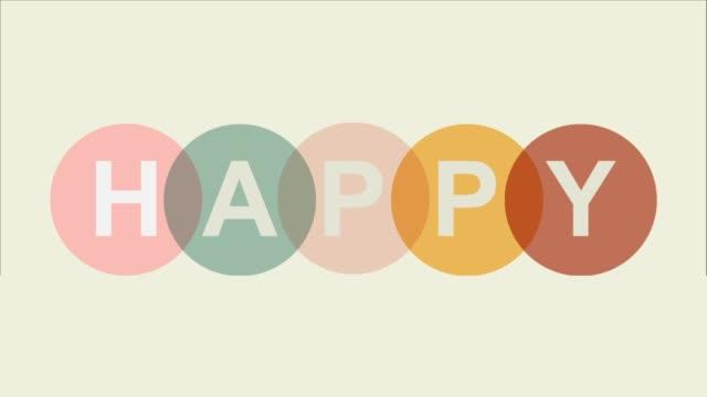 vídeos y material grabado en eventos de stock de texto feliz y colorido de pascua y forma de círculo - pascua