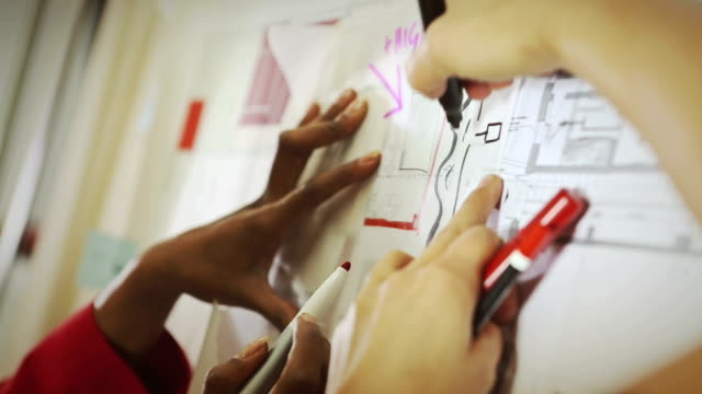 Creative architect women at work video