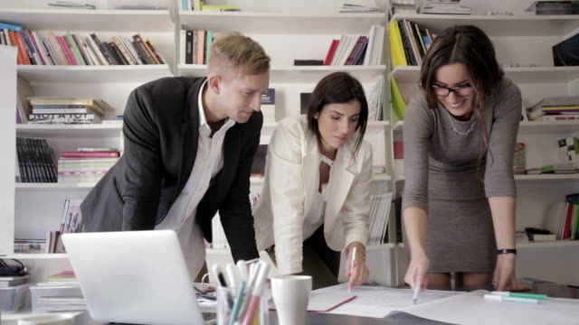 Creative professionals people working together video