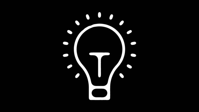Creative Thinking Line Icon Animation with Alpha