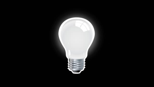 Creative Thinking realistic lamp Icon isolated on black