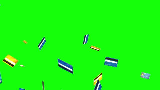karta kredytowa cząstka zielony ekran pętla animacja - credit card filmów i materiałów b-roll