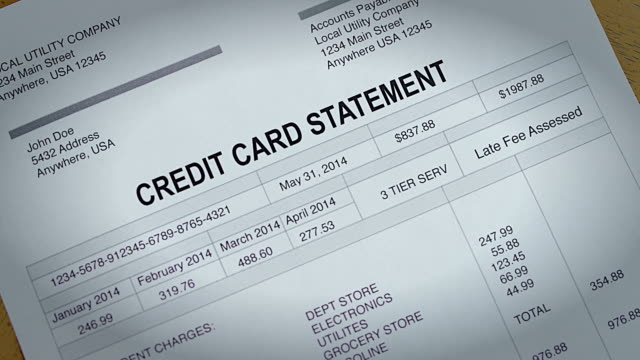 Credit Card Statement Past Due video