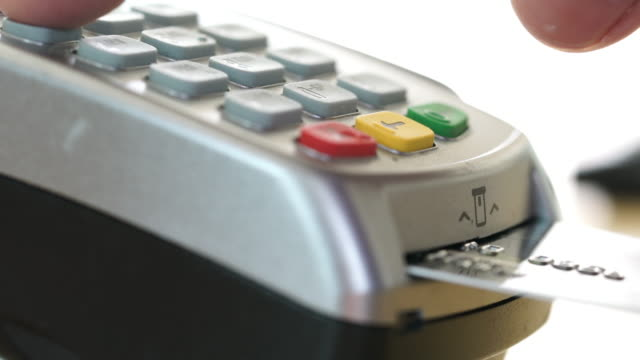 Credit Card Terminal Machine Chip and Pin in Store video