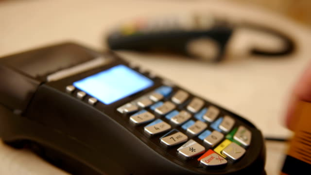 HD - Credit Card Terminal HD - Credit Card Terminal gold card stock videos & royalty-free footage