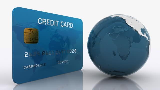 Kreditkarte mit Earth-Globus – Video