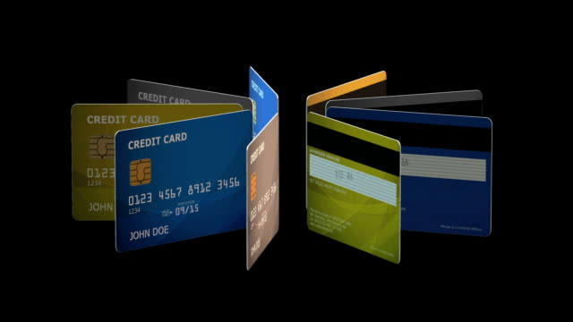 Credit Cards Animation video
