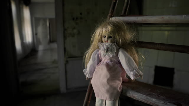 Creepy Doll and Ghost in Abandoned House This ghost was caught on camera in an abandoned and forgotten town near Karlstad Sweden. doll stock videos & royalty-free footage