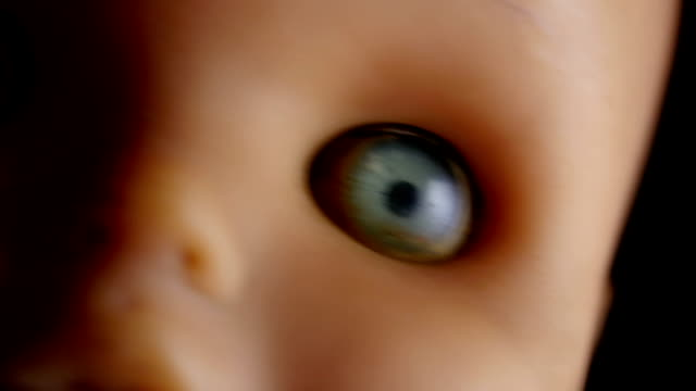Creepy Doll Close-up of doll, turning forward. doll stock videos & royalty-free footage