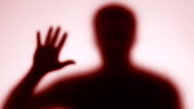 Creepy male silhouette looking camera, nightmare ghost, disaster quarantine