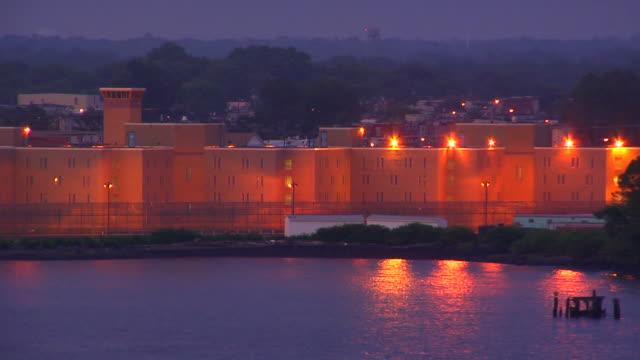 Creepy Prison at night HD video