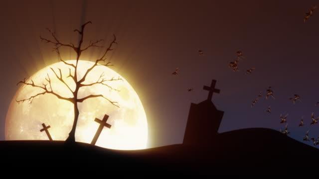 Cena assustadoras para o Halloween em HD - vídeo