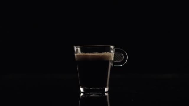 Crema (black coffee) in a glass video