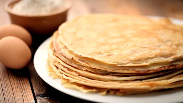 crepes - pancake video stock e b–roll